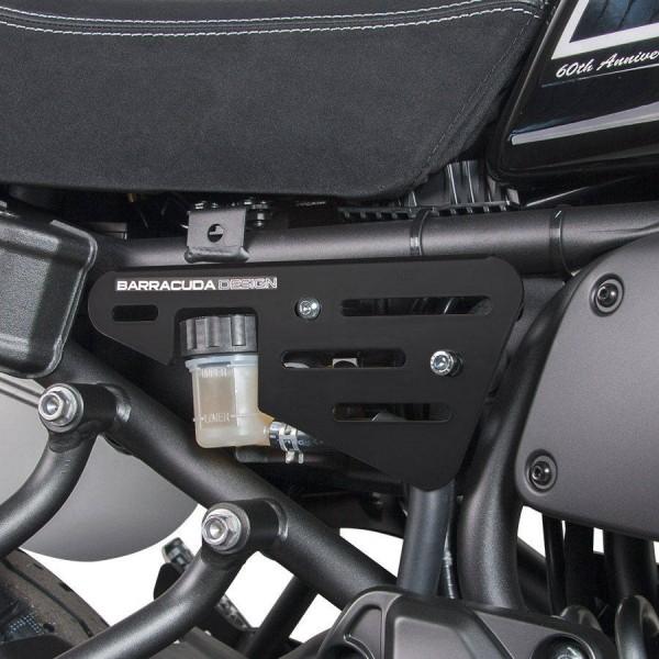 XSR700 XSR 700 boczne osłony ALU czarny mat