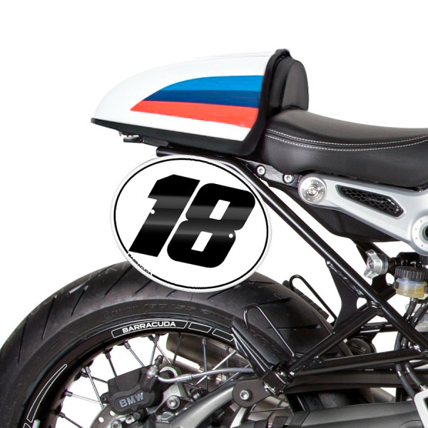 BOCZNE TABLICE Z POLAMI NUMEROWYMI DO BMW R NINE T PURE/RACER/SCRAMBLER/URBAN GS 17-20